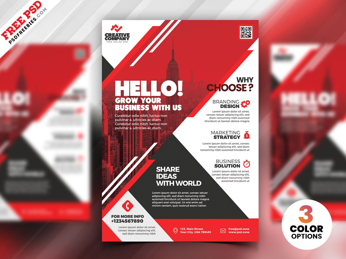 PSD Corporate Flyer Design Templates by PSD Freebies on Dribbble