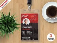 Print Ready Employee ID Card PSD Template employee id identity card identity id card corporate print download photoshop design free template psd template freebie psd free psd