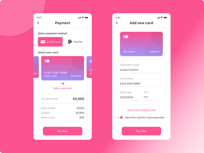 Daily UI #002 - Credit Card Checkout ui design design challenge design inspirtaion payment checkout credit card checkout dailyui