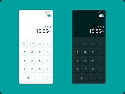 DailyUI #OO4 - Calculator calculator design calculator 3d design design inspiration app design challenge dailyui