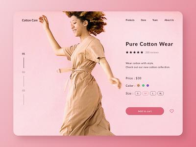 Daily UI #012 - E-Commerce Shop (Single Item) ecommerce site business clothes cotton wear ecommerce ui design dribbblers design inspiration design challenge dailyui