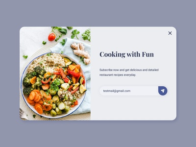 Daily UI #016 - Popup/Overlay uidesign subscribe recipe popup design overlay popup design inspiration design challenge dailyui
