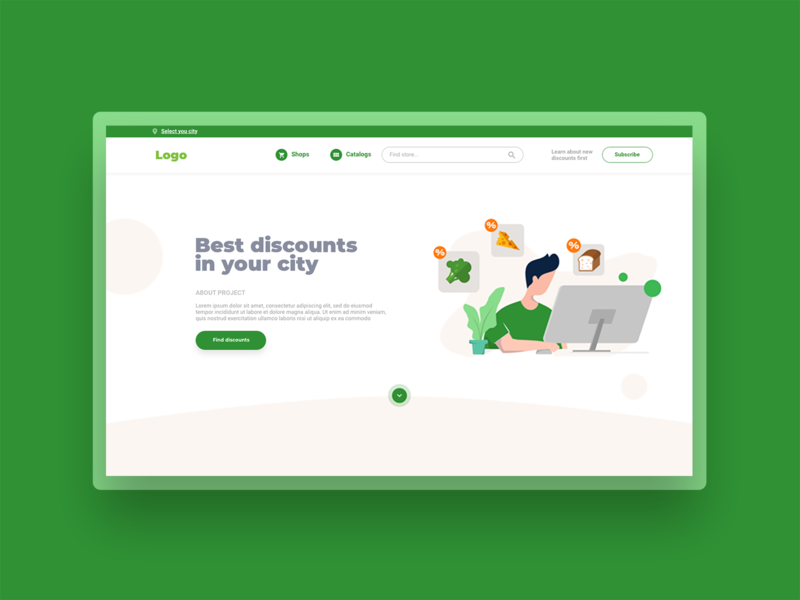 Discounts landing page & illustration web discount discounts landing illustration