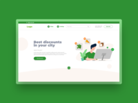 Discounts landing page & illustration