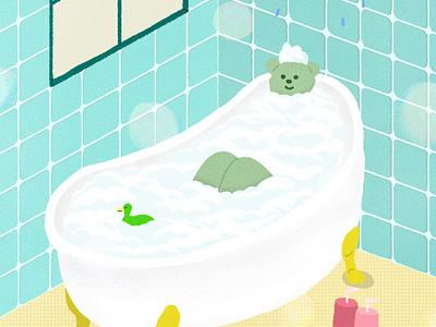 bathroom characterdesign artwork illustration