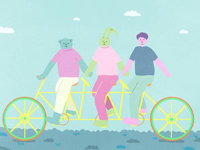 bicycle characterdesign artwork illustration