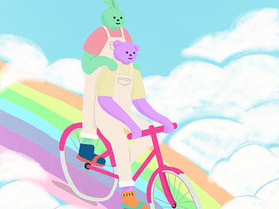 rainbow characterdesign artwork illustration