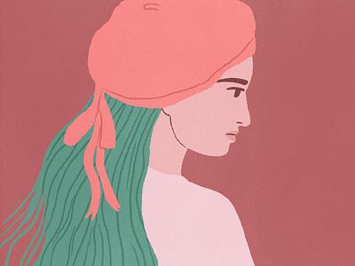 beret fashion girl characterdesign artwork illustration
