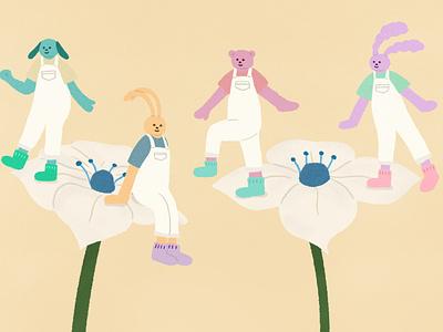 flowers flowers characterdesign artwork illustration