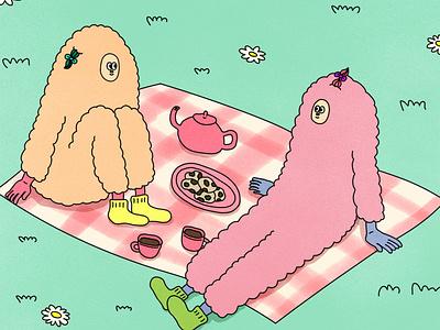 picnic characterdesign artwork illustration