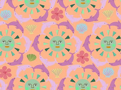 summer pattern patterndesign pattern flowers artwork illustration