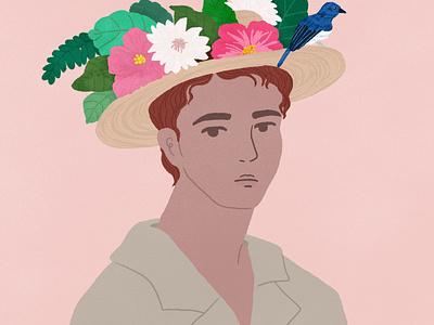 flower boy flowers boy fashion artwork illustration