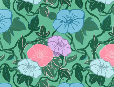 morning glory pattern morningglory patterndesign pattern design flowers artwork illustration