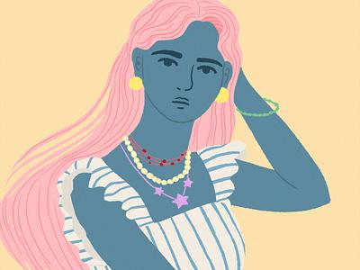 girl girl fashion artwork illustration