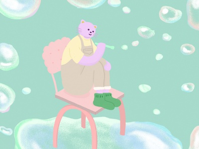 soap bubbles characterdesign artwork illustration
