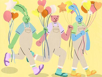 balloon characterdesign artwork illustration