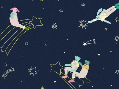 starry sky characterdesign artwork illustration