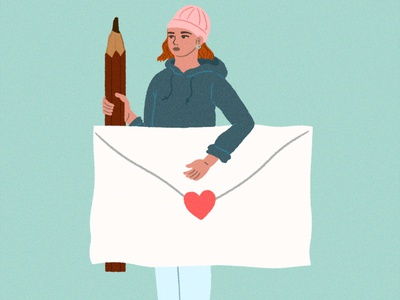 letter girl fashion artwork illustration