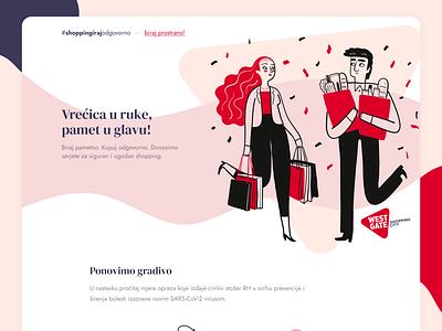 Shop responsibly | Westgate webdesign coronavirus corona shopping shop