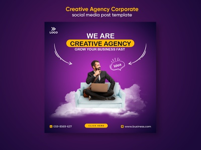 Corporate creative agency social media post template promotion psd media corporate poster finance instagram post template instagram banner facebook social media template office design cover sale business corporate marketing modern company banners banner ad banner