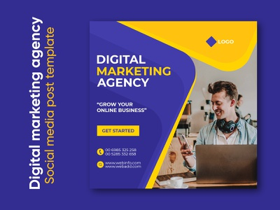 Digital marketing agency corporate social media post template digital marketing agency banner poster marketing agency instagram facebook corporate commercial advertisement ads digital marketing agency promotion business modern company banners banner ad banner