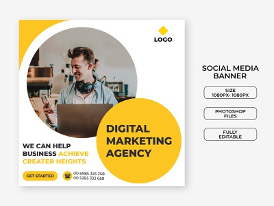 Digital marketing social media post template instagram event multipurpose marketing business agency social media campaign promotion modern ads company banners ad banner corporate banner digital marketing