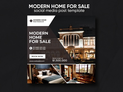 Home sale social media post template design open house ad banner ads company banners facebook banner instagram banner advertisement ad corporate real estate property modern home sale home