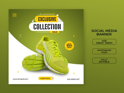 Shoes banner social media banner instagram facebook shoes banner shoes promotion modern company banners discount ads banner ad banner