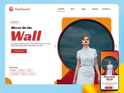 Fashionist : F! light darkmode white page landing web concept ux landing page website e-commerce fashion uiux mobileapp branding graphic design ui