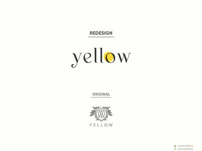 yellow logo redesign design brand logo minimal logo creative logo milimalist logo design logo