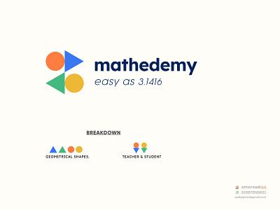 mathedemy logo education logo minimal logo creative logo milimalist logo design logo