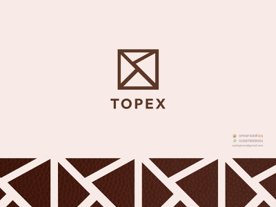 TOPEX leather logo brand logo minimal logo creative logo milimalist logo design logo