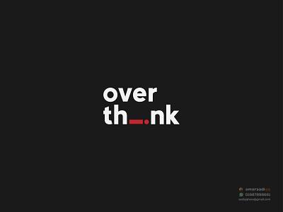 overthink icon word design word logo minimal logo creative logo milimalist logo design logo