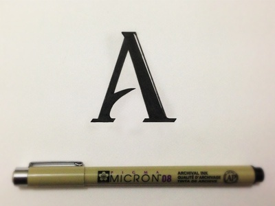 A for Altoid altoid type a micron hand lettering hand lettering