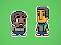 8-bit Troy And Abed [Sticker Mule]