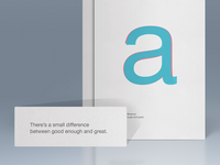 There's a small difference between good enough and great. typography arial helvetica quotes design design poster poster