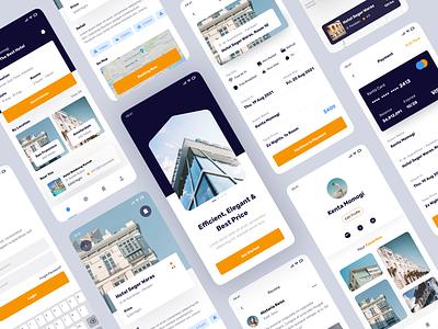 Hotel Booking Apps 🏨 clean mobile design booking app hotel mobile design app mobile app hotel booking app ux graphic design branding ui minimal design app