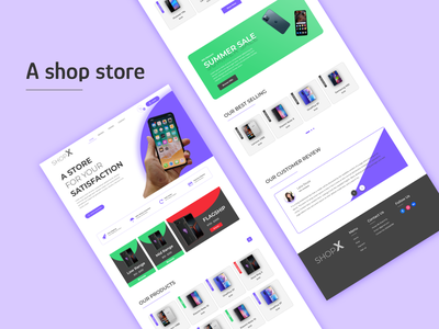 E-commerce Home page landing page new idea concept design home page store mobile store adobe xd uiux design web design e-commerce website online store