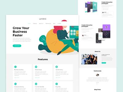 Digital Presence Business Landing Page figma targeted audience user friendly modern design design web design react wordpress webflow responsive website ux ui design trends web design trends
