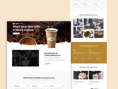 Coffee Shop uiux design ux ui modern landing page 2021 design trend trendy design coffee shop coffee design web design adobe xd