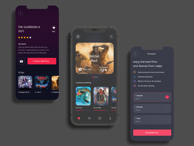Cinema App adobe xd branding iphone app app concent movie trend minimal ui cinema film new movies star online show ux ui cinematic watching movie movie app cinema app