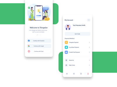 Profile screen concepts. minimal trends minimal design minimal ui targeted users guiding audience illustration design mobile welcome page onbording red yellow green app avatar profile screens welcome screens app concepts uiux ux ui