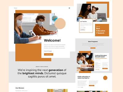 Online learning platform ux research prototype education online education teachers mentors online class live class course learning responsive web design design ux ui