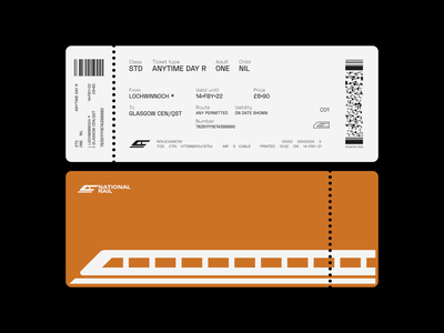 National Rail Ticket logo ticket branding corporate identity illustration graphic design