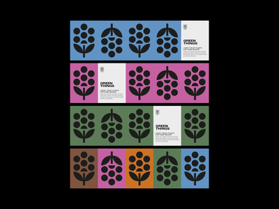 Green Things print visual design plants garden design vector logo graphic design corporate identity branding