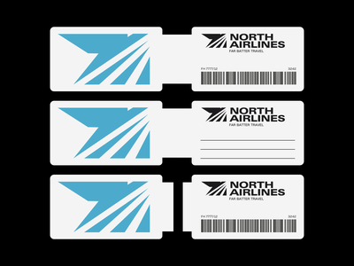 North Airlines Tag flight airlines airline tag brand design visual identity logo design vector brand indentity brand visual design design logo graphic design corporate identity branding