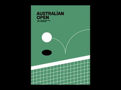 Australian Open game wimbledon illustration design poster design poster tennis australian australian open