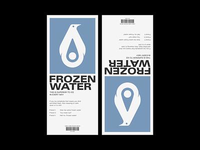Frozen Water brand identity brand design animal penguin illustration brand visual design logo graphic design design corporate identity branding