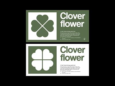 Clover Flower vector business cards brand visual design logo design corporate identity branding graphic design