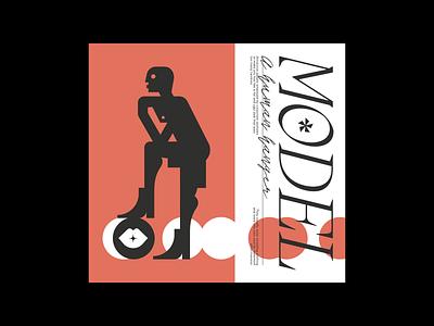 Model visual design vector illustration logo branding design music cover album cover graphic design